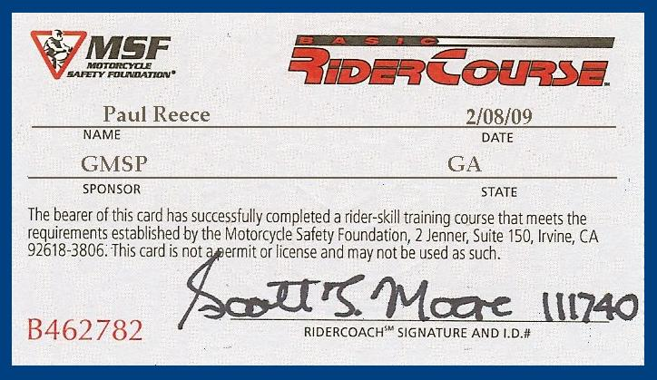 Exceptional Motorcycle Safety Certificate 2 Msf Card Jpg